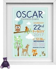 """NEW BORN BABY BOY    Nursery Picture   Personalised   10"""" x 8""""   Blue   (NP177)"""