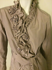 New Weatherproof Women's Trench Single Breasted Coat in Concrete Size Small