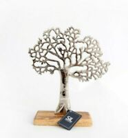 Tree of Life On Wooden Base Ornament  Antique Display Home Decor - SMALL