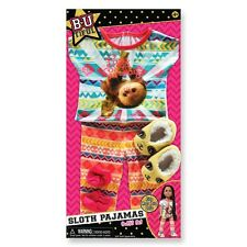 "Sloth Pajamas 2 pc. pjs and slippers fits 18"" American Girl doll Lea Rain forest"