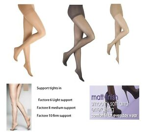 Support Tights Energising Factor Gentle Light, Medium Firm Compression Sheer