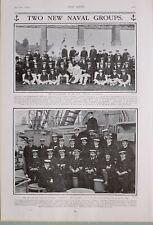 1903 PRINT NAVAL CAPTAIN KINGSFORD & OFFICERS HMS HERMES ROYAL NAVAL ENGINEERS