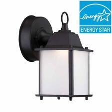 Hampton Bay Satin Bronze Outdoor LED Wall Lantern 1000 639 865