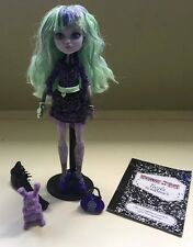 Monster High Twyla First Wave 13 Wishes Doll Pet Purse Diary Stand Lot