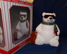 "Coca Cola Polar Bear ""Hollywood"" Cookie Jar 1996 w/box rare Exc. cond."
