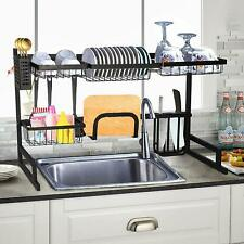 Over Sink Dish  Kitchen Supplies Drainer Organizer With Utensils Holder