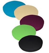 Lienzo de algodón puro AA 3D redonda cubierta Cojín del Asiento Silla de Forma de Caja tamaño personalizado