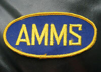 AMMS EMBROIDERED SEW ON  PATCH ADVANCED MAINTENANCE MANAGEMENT SYSTEM UNIFORM