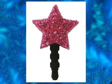 PINK CRYSTAL STAR Earphone Jack Dust Plug Cover Stop Cell phone Iphone Android