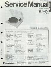 Original Factory Technics/Panasonic SL-H401 Plattenspieler Service Manual