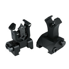 Rapid Transition Flip Up Front Rear Folding Iron Metal Sight Set Back Up