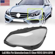 Headlight Lens Cover For 14-16 Mercedes-Benz W212 E200 E300 E400 E500 E63 AMG
