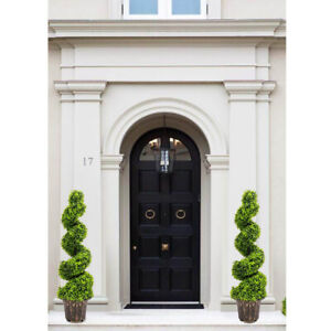 2X 4FT Artificial Spiral Boxwood Buxus Topiary Tree Realistic Fake Potted Plant