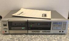 SONY SINGLE CASSETTE DECK TC-FX505R Recorder Tested Works Great VTG