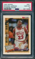PSA 10 MICHAEL JORDAN 1992-93 HOOPS Supreme Court Chicago Bulls GOAT GEM MINT