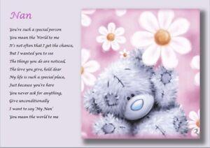 NAN GIFT.......nana, gran, nanny, grandma, granny  personalised A4 gift