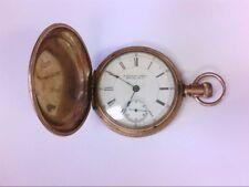 1880's J. Kendall Smith Newark NJ GF Hunt Pocket Watch. 18 S, 15 J. PARTS/RESTO.