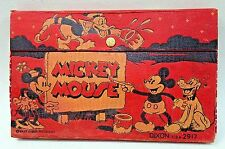 c. 1935 Dixon MICKEY MOUSE DONALD DUCK & MINNIE Painting Sign Pencil Box #2917