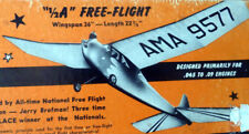 "CHAMPION 36 PLAN + PARTS PATTERNS for Classic 1/2A 36"" FF or RC Model Airplane"