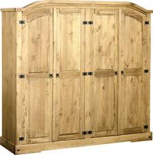 Seconique CORONA 4 Door Wardrobe - Distressed Waxed Pine Whw113dwp