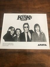 """Vintage Press Photo Of The Kinks for their """"Low Budget"""" Album Arista"""