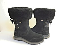 Ugg Ingalls Black Sheepskin Cuff Waterproof Boot Us 8 / Eu 39 / Uk 6 New