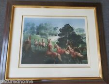 "G.H.  ROTHE ORIGINAL MEZZOTINT "" HAPPY HORSES "", GALLERY FRAMED, large"