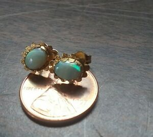 14k Yellow Opal Earring Scrap or Wear