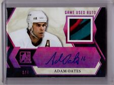 ADAM OATES 16/17 Leaf In The Game Used PURPLE Patch Auto Autograph #1/4 Signed