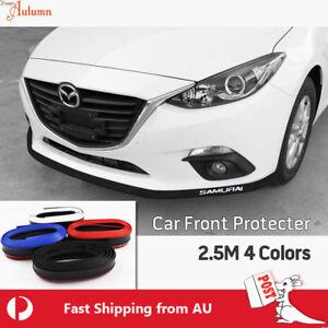 Universal 2.5M Car Front Bumper Edge Protector Body Spoiler Rubber Splitter Auto