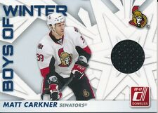 2010/11 Panini Donruss #49 Matt Carkner Boys of Winter Threads Insert