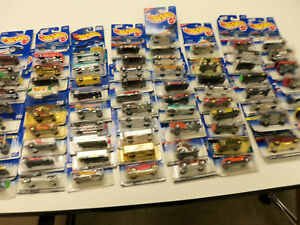 Hot Wheels Collectible Cars Toys Lot Of 74 in Original Packages Different Years