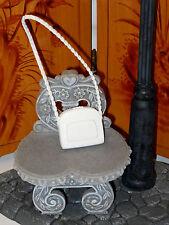 PURSE Barbie White Textured Chain Strap Hand Bag Accessory Fashionista So Sporty