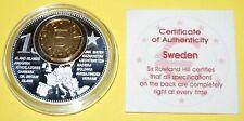Sweden 1 Coin(gilded)+Medal 40mm, 31g, Proof Like + Zertifikat