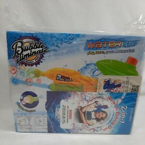 (2 Pack) Bubble Gun & Water Gun for Kids, Boys, Girls – Water & Bubble Maker