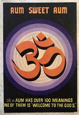 Vintage Religious Postcard ~ Aum Sweet Aum ~ Hinduism