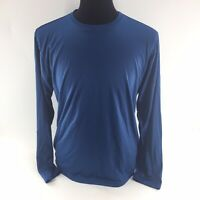 Men's Hoka One One Seattle Marathon Long Sleeve Running Shirt Sz Small Blue  Y6A
