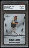 SHANE BIEBER 2018 LEAF SILVER 1ST GRADED 10 ROOKIE CARD RC MLB CLEVELAND INDIANS