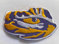 "LSU Tigers Eye of the Tiger vintage iron on patch new old stock 4"" x 2.5"" A1"