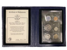 1961-P UNITED STATES MINT PROOF SET 90% SILVER FRANKLIN HALF COLLECTOR COINS