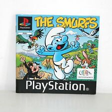 INSTRUCTION MANUAL FOR PS1 PSONE PLAYSTATION SMURFS (THE) GAME