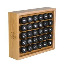 AllSpice Wooden Spice Rack, Includes 30 4oz Jars, Walnut, Cherry, Maple and more