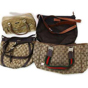 Gucci Canvas Nylon Hand Bag Shoulder Bag 4 pieces set 520140