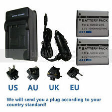 2xBattery FOR LI-50B OLYMPUS u9010 u1030 u TOUGH 8010 8000 TG-810 +AC/DC Charger
