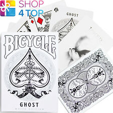 BICYCLE GHOST WHITE LEGACY EDITION ELLUSIONIST PLAYING CARDS DECK MAGIC NEW