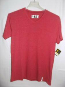 RBX Ultra Soft Sleepwear V Neck Short Sleeve T-Shirt Rust Size L
