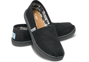 NEW Youth Authentic Toms Classics Canvas Slip On Shoes Flats