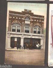 Vtg Postcard West Side Fire Station Number 2 Waterloo Iowa IA 1911 Wagon Horses