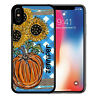 Personalized Case fits iPhone 11 Pro Xr Xs X Max 8 7 Blue Plaid Fall Sunflower