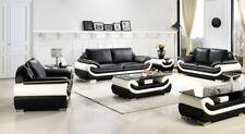 Sofagarnitur Couch Polster Sofa set 3 2 1 Leder Couchen Sofas Garnitur Sitz T777